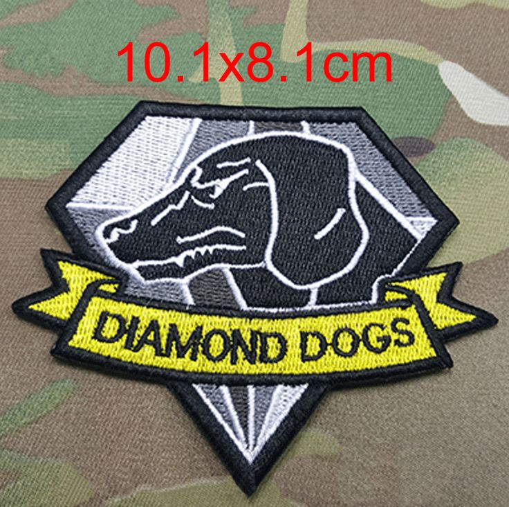 1 pcs 10.1*8.1CM Metal Gear Solid 5 Diamond Dogs Movie Magic Tape Embroidered Patches For Clothes Garment Applique DIY Accessory #Affiliate