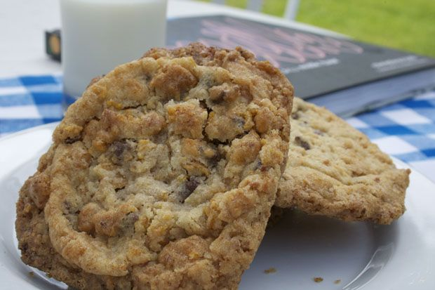 Cornflake cookies (yes, they're amazing!) recipe from Momofuku Milk Bar by paige