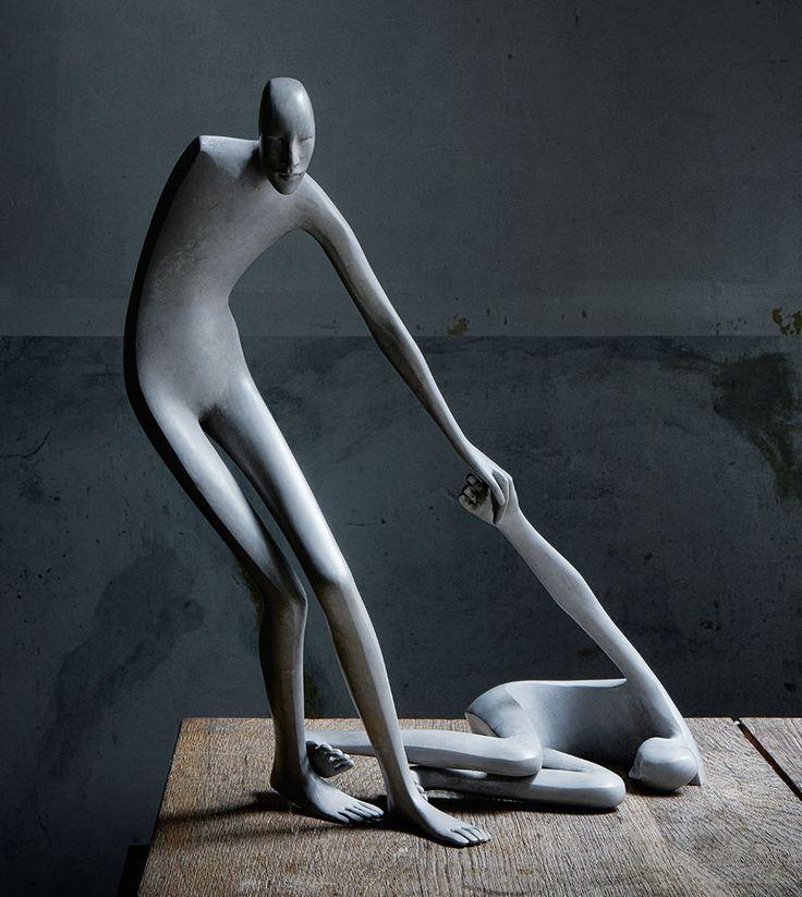Allez-viens d'Isabel Miramontes www.meltingartgallery.com #art #sculpture