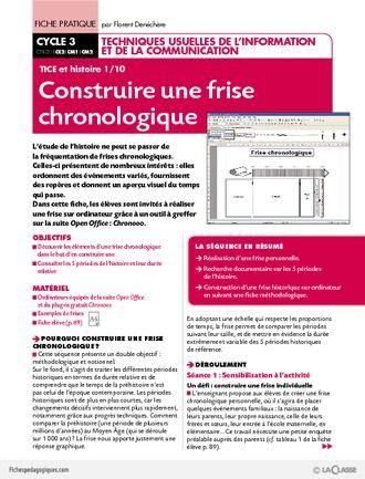 TICE et histoire (1) / Construire une frise chronologique