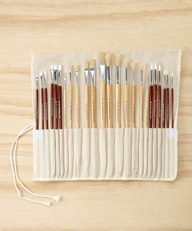 This 24-Piece Brush Set is perfect! #zulilyfinds