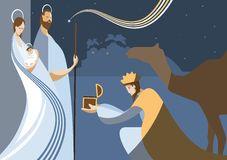 Cor Da Silhueta Da Natividade Fotografia de Stock - Imagem: 1518702