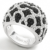 Love Coach: Art Pave, Domed Ring, Pave Domed, Coach Ring, Rings, Jewelry, Op Art, Coaches, Coach Op
