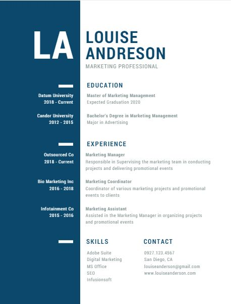 Canva $1 Resume