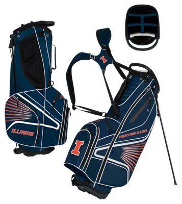 Team Effort GridIron III Stand Golf Bag - Illinois University