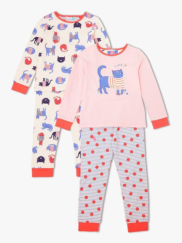 939387db9 BuyJohn Lewis   Partners Girls  Cat Print Pyjamas