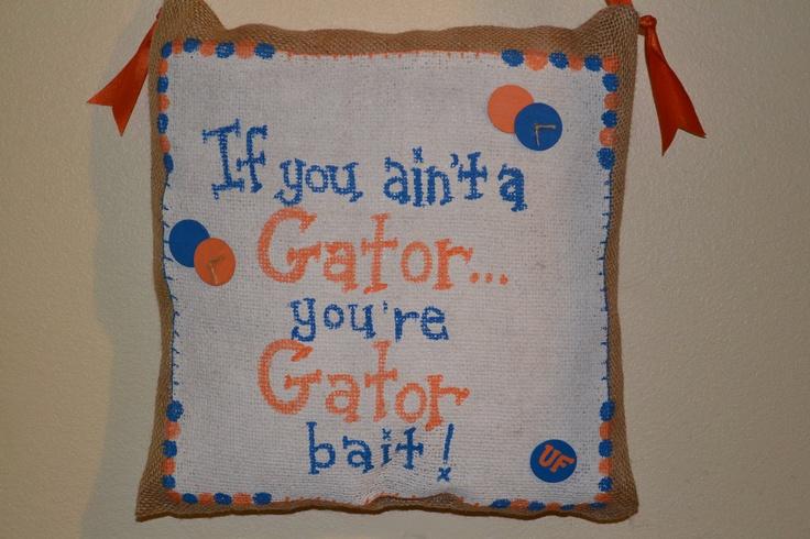 University of Flordia Gator Bait hanging. 24.00, via Etsy