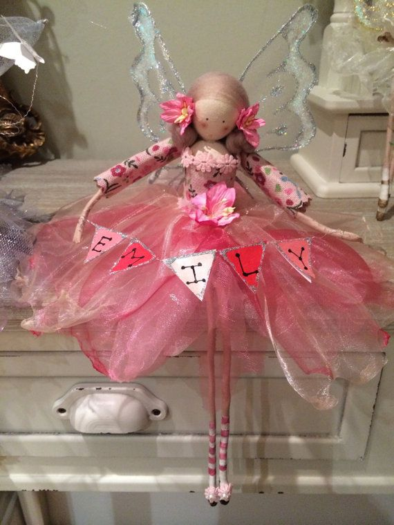 Large Fairy Seated with Personalised by FabulousFairyFactory