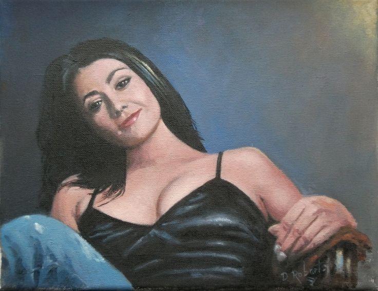 Portrait of Natalie J. Robb. Soap star from 'Emmerdale'.
