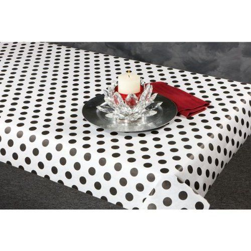 100 best images about american girl in paris party on for Black polka dot tablecloth