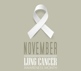 Lung Cancer Awareness Month 2015 ribbon