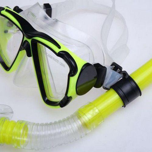 Swimming Gear Dive Scuba Submersible Goggles Protective Mask Glasses Adult Anti-fog Diving Mask Equipment Semi Dry Snorkel Set