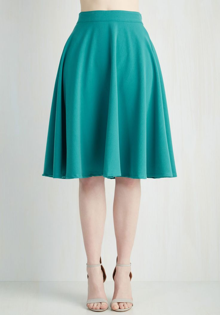 Bugle Joy Skirt in Teal, #ModCloth