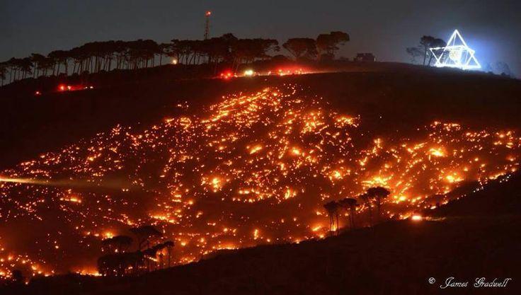 Fire in Cape Town