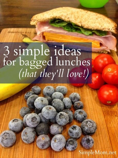 Three ideas for the bagged lunch (that they will love)