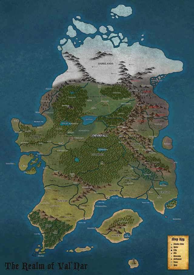 [Art] Homebrew Continent Map in 2020 | Fantasy world map