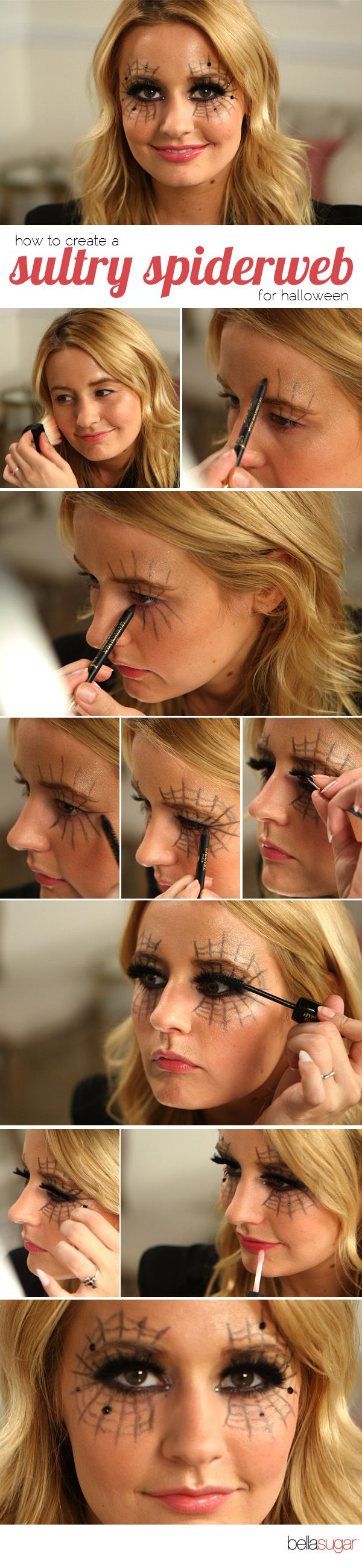 Create a Sultry Spiderweb Eye Look for Halloween