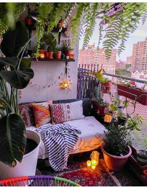 Dekorationsideen für Balkon / Veranda oder Terrasse.