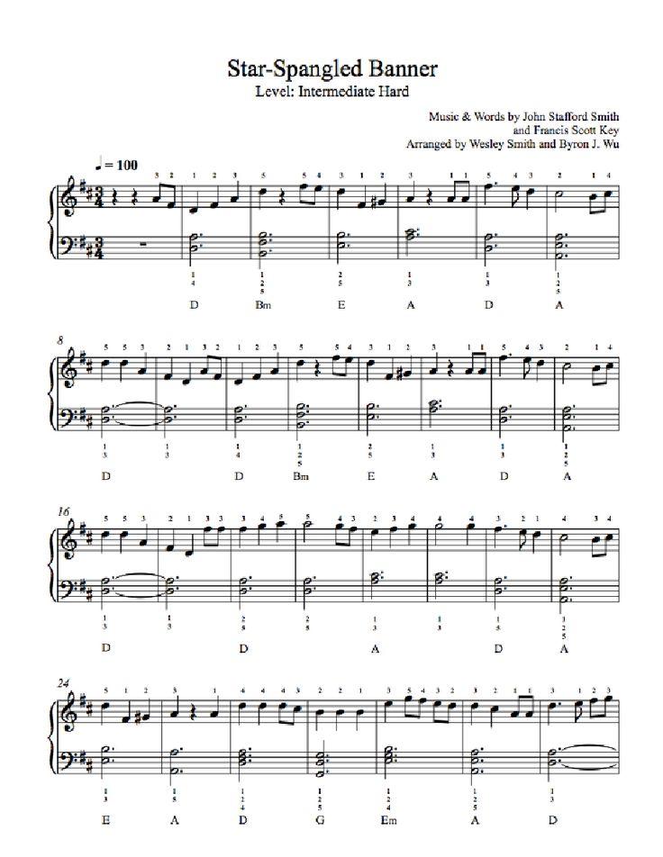 4th of july sheet music free
