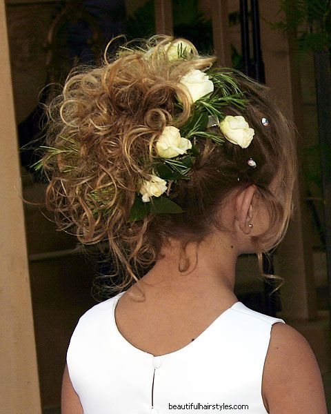 Flower Girl Hairstyles For Wedding: 17 Best Images About HAIRSTYLES...LITTLE GIRL'S On