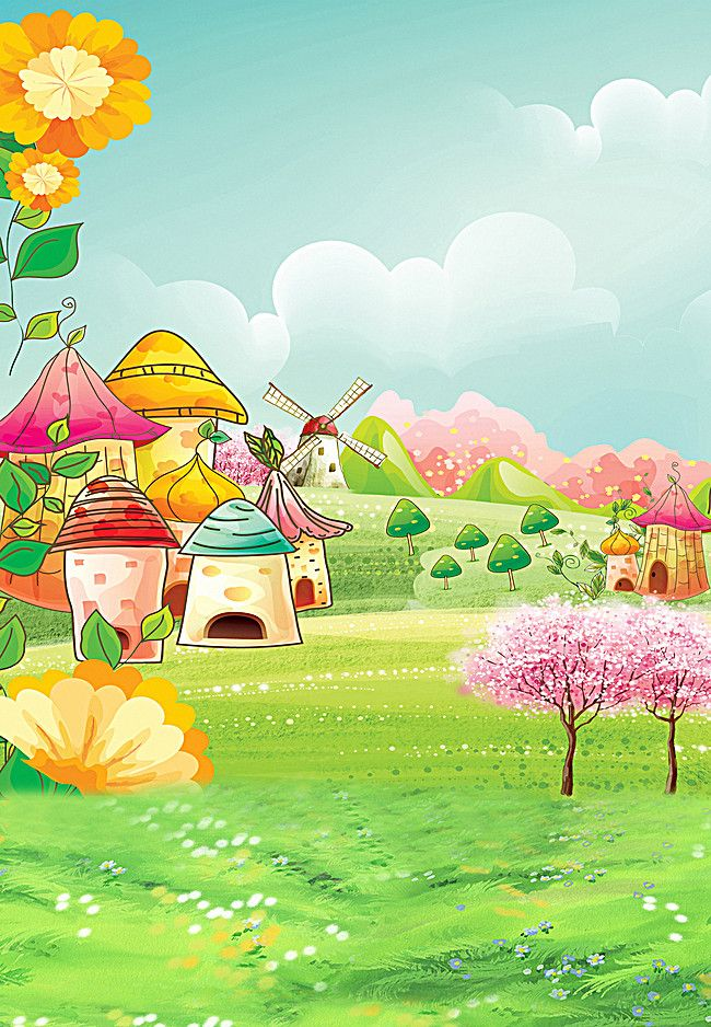 Cartoon Village Lookout Hd Studio Background Big Picture Digital Backdrops Studio Background Images Forest Photography Full hd cartoon background hd