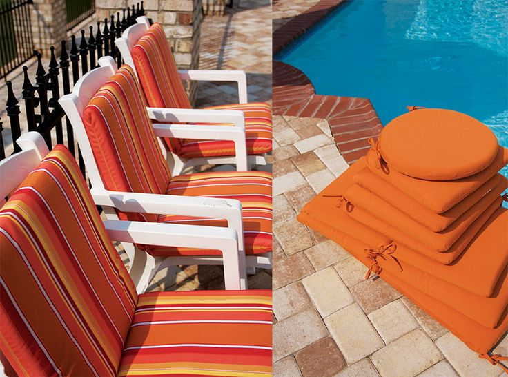 Orange Outdoor Cushions
