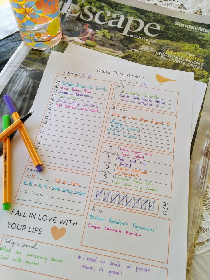 Carolyn Ens (carolynens) on Pinterest - free daily planner download