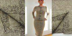 Прямая юбка спицами с описанием