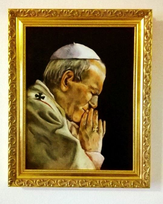 San Giovanni Paolo II Olio su tela  Oil on canvas