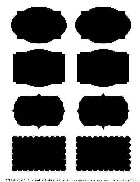 Black board label templates. See previous post.