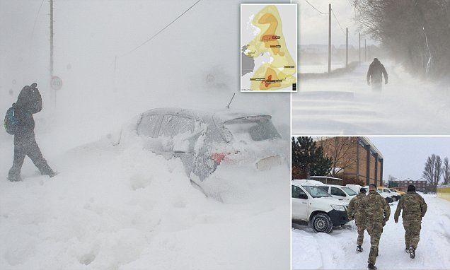 Now England is on RED ALERT: UK's highest ever weather warning