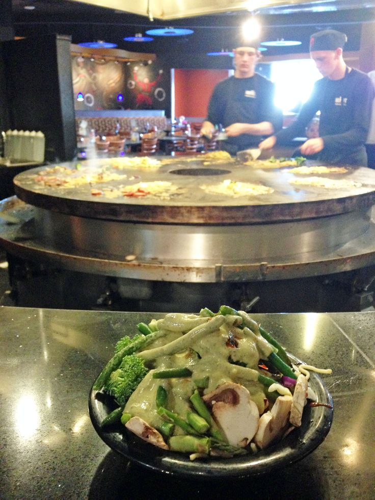 A restaurant review of HuHot Mongolian Grill, an all-you-can-eat Mongolian barbecue grill. Other locations are mostly in the Midwest US.