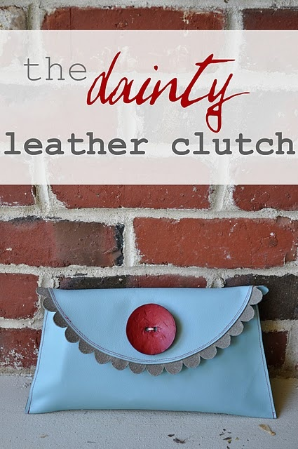 DIY - faux Leather Scalloped Clutch