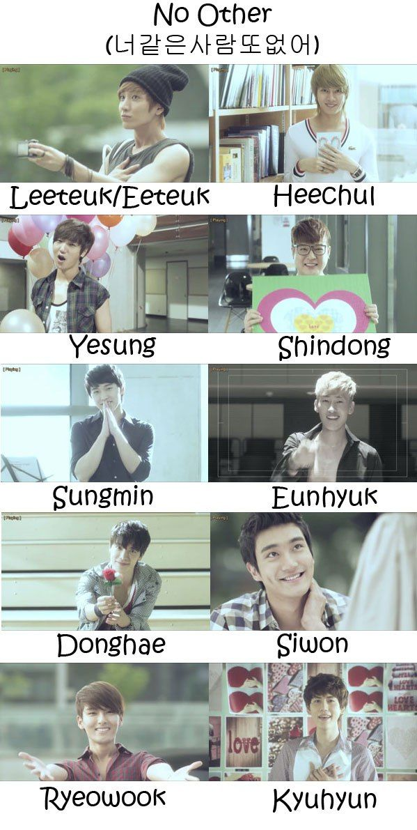 "The members of Super Junior in the ""No Other"" MV"