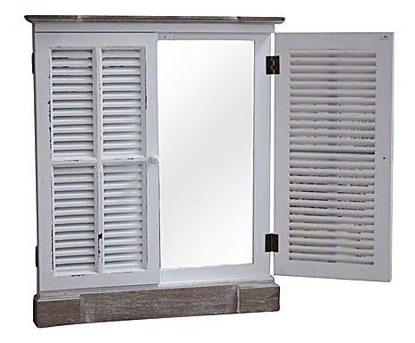 Specchio a finestra in betulla clarissa - 60x70x6 cm