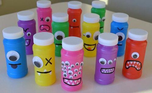 Monsters/Monsters, Inc. Birthday Party! Favor - monster bubbles