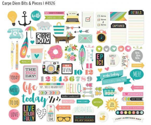 Ya tenemos disponible en la web los adornos para la agenda y álbum Carpe Diem de Simple Stories.  http://starsandrockets.es/adornos-para-agenda-y-albumes