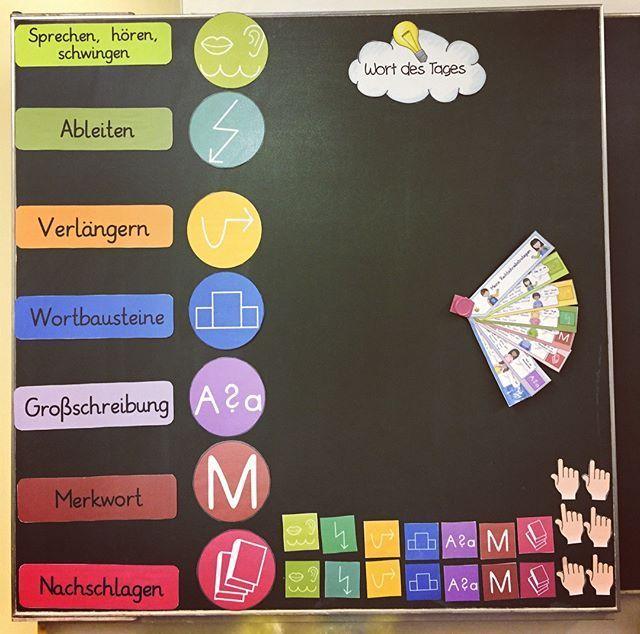 Heute gab es die neuen Lernwörter! Die Kinder haben eine Woche Zeit, um zu arbeiten und es zu lernen. Damit ich die Wörter benutzen kann