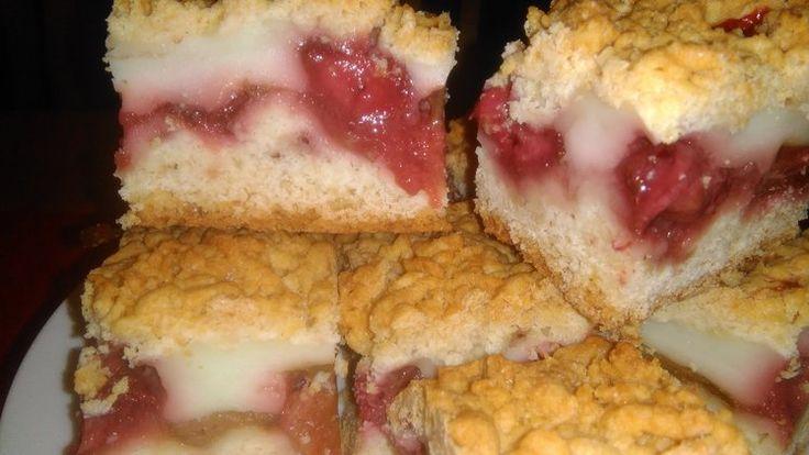 Ciasto kruche z owocami i budyniem