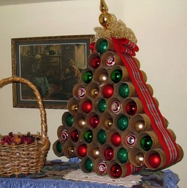 17 migliori idee su albero di natale fai da te su - Decorazioni natalizie legno fai da te ...