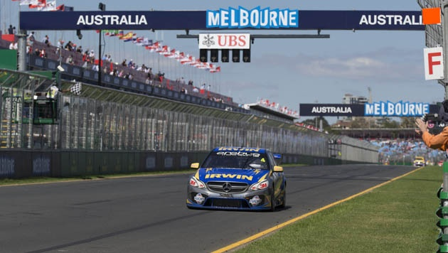 The Irwin Racing E63 AMG V8 Supercar's first outing at the 2013 Australian Grand Prix