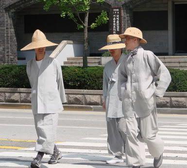Korean Buddhist monks