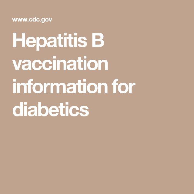 Hepatitis B vaccination information for diabetics