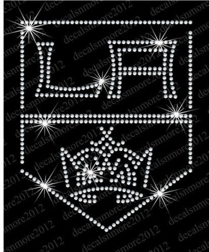 Los Angeles La Kings Hockey Bling Iron on Rhinestone Transfer | eBay