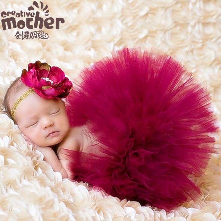 >> Click to Buy << 2pcs Newborn Girls  Faldas Tutu Skirt+Flower Headbands Baby Props For Photography Newborn Tutu Skirts Conjunto Tutu Menina Minie #Affiliate