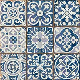 Miniature Printables - Blue Tiles.