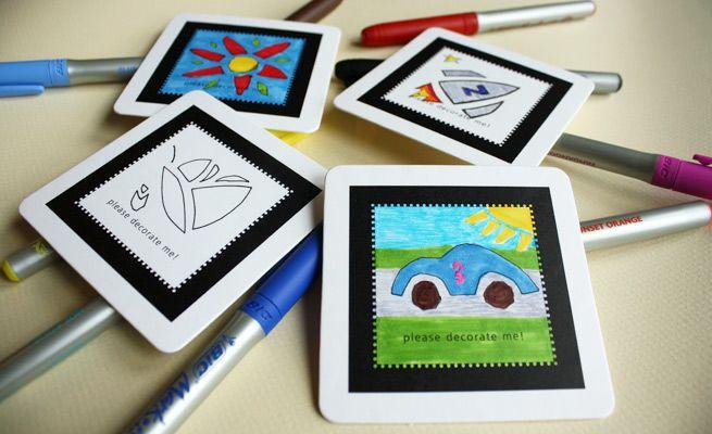 DIY Art Coasters #coasters #diy