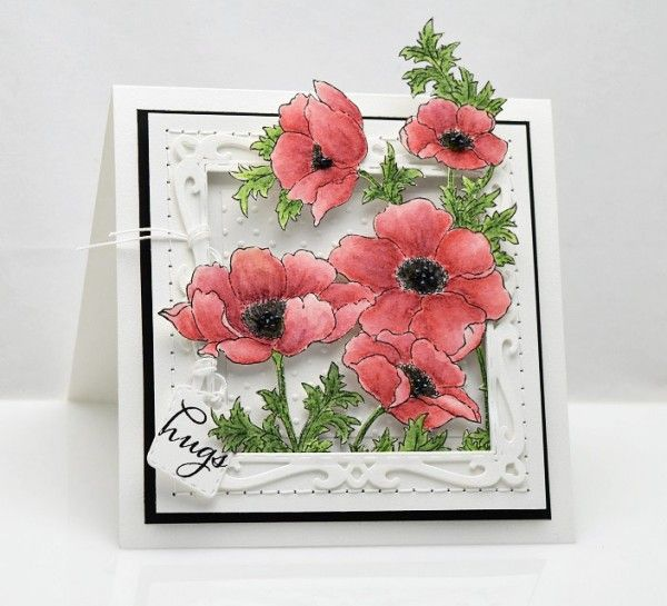 The detail on this card is breathtaking! She even decorated the inside of it! Get the Penny Black cling she used here: https://www.simonsaysstamp.com/product.aspx?id=342832