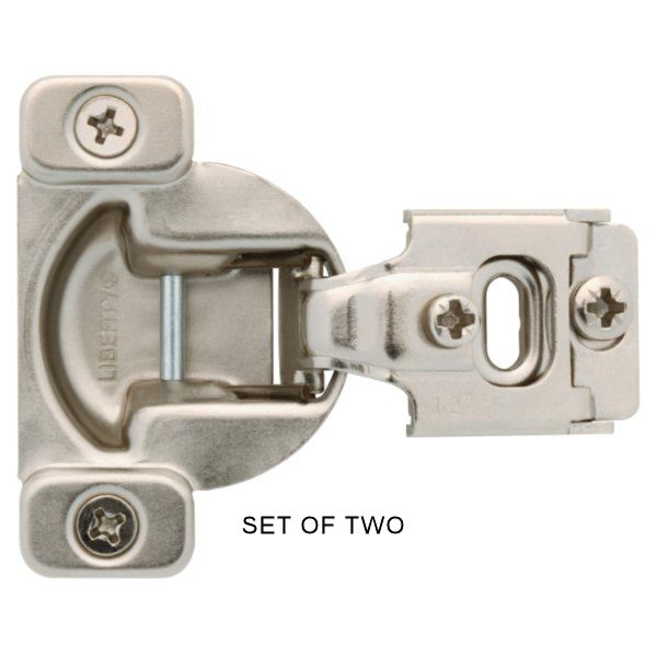Pair (2) 1/2' Overlay Compact Concealed Hinges W/ Screws & Instructions