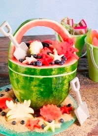 So clever! ronacsfFruit Salad, Summer Parties, Beach Parties, Beach Party, Beach Theme, 4Th Of July, Parties Ideas, Watermelon, Parties Food
